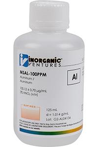 Стандарт алюминия одноэлементный водный (MSAL-100PPM-125ML)