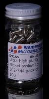 Корзинки никелевые для элементного анализа ультра-чистые 1 г, 100 шт. (D9155)