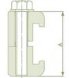 Зажим двухсторонний для монтажа фланцев ISO алюминий (DWCA-ISO63/100)