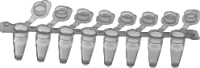 Стрипы из 8 пробирок AHN myTube PCR с плоскими крышками 0,1 мл, h=16.6 мм