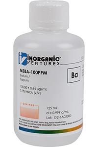 Стандарт бария одноэлементный водный (MSBA-100PPM-125ML)