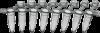 Стрипы из 8 пробирок AHN myTube PCR с плоскими крышками 0,2 мл, h=21.8 мм