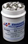 Капсулы оловянные для элементного анализа прессованные, стандартный вес (D1001)