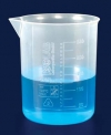 Стакан полипропилен 250 мл, ц.д.50 мл, рельефная шкала (РР)(ISOLAB) (026.01.250)