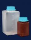 Бутыль для отбора проб воды, квадратная, V-500 мл, темная, стерильная с тиосульфатом (PP) (061.24.500)