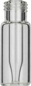 Виалы 0.2 мл N9 под винтовую крышку, 11.6 мм x 32 мм, прозрачные стеклянные, со встроенной конической стеклянной вставкой 0.2 мл, с плоским дном, 100 шт/уп. (702007)