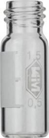 Виалы 1.5 мл N10 под винтовую крышку, 11.6 мм x 32 мм, прозрачные стеклянные, с плоским дном, 100 шт/уп. (702012)