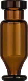 Виалы 1.1 мл N11 под обжимную крышку, 11.6 мм x 32 мм, темные стеклянные, конические с круглой постаментной пластиной, 100 шт/уп. (702016)