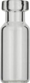 Виалы 1.5 мл N11 под обжимную крышку, 11.6 мм x 32 мм, прозрачные стеклянные, с плоским дном, 100 шт/уп. (70201CG)