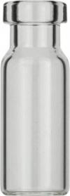 Виалы 1.5 мл N11 под обжимную крышку, 11.6 мм x 32 мм, прозрачные стеклянные, с плоским дном, 100 шт/уп. (70201HP)
