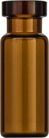 Виалы 1.5 мл N11 под обжимную крышку, 11.6 мм x 32 мм, темные стеклянные, с плоским дном, 100 шт/уп. (70201HP.2)