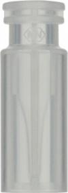 Виалы 0.2 мл N11 под ПП стопорное кольцо, 11.6 мм x 32 мм, прозрачные стеклянные, со встроенной конической стеклянной вставкой 0.2 мл, с плоским дном, 100 шт/уп. (702134)