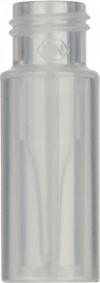 Виалы 0.2 мл N9 под винтовую крышку, 11.6 мм x 32 мм, прозрачные стеклянные, со встроенной конической стеклянной вставкой 0.2 мл, с плоским дном, 100 шт/уп. (702135)