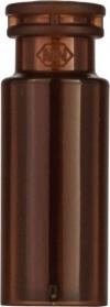 Виалы 0.2 мл N11 под ПП стопорное кольцо, 11.6 мм x 32 мм, темные стеклянные, со встроенной конической стеклянной вставкой 0.2 мл, с плоским дном, 100 шт/уп. (702334)