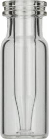 Виалы 0.2 мл N11 под ПП стопорное кольцо, 11.6 мм x 32 мм, прозрачные стеклянные, со встроенной конической стеклянной вставкой 0.2 мл, с плоским дном, 100 шт/уп. (702709)