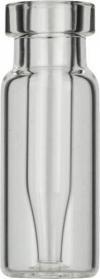 Виалы 0.2 мл N11 под обжимную крышку, 11.6 мм x 32 мм, прозрачные стеклянные, со встроенной конической стеклянной вставкой 0.2 мл, с плоским дном, 100 шт/уп. (702891)