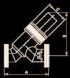 Клапан линейный нерж. сталь, пневматический привод, CR16A, с сильфонами, Y-тип, длина 2.24 дюйма (PYV-CR16A)